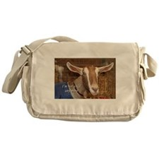 I'm not a kid any more: goat Messenger Bag