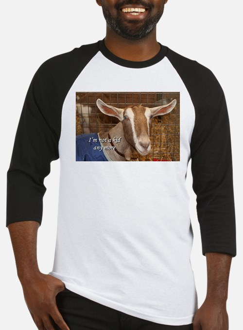 I'm not a kid any more: goat Baseball Jersey