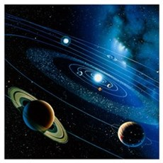 Artwork of the solar system Canvas Art