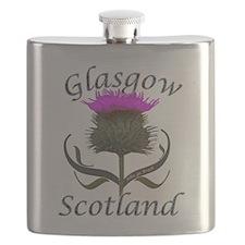 Glasgow Scotland Thistle Flask
