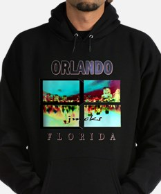 orlando florida art illustration Hoodie (dark)
