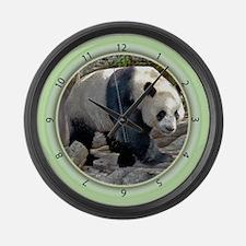 Panda Strut Large Wall Clock