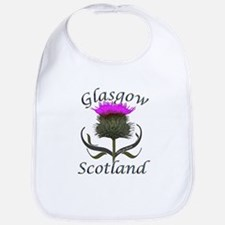 Glasgow Scotland Thistle Bib