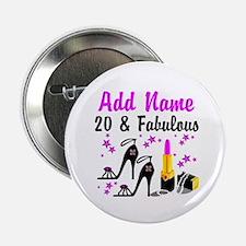 "HAPPY 20TH BIRTHDAY 2.25"" Button"