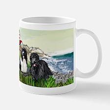 Two Newfs Seascape Mug