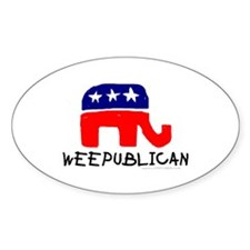WEEPUBLICAN Oval Decal