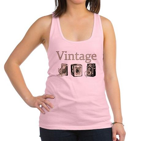 Vintage-Tan and Black Racerback Tank Top