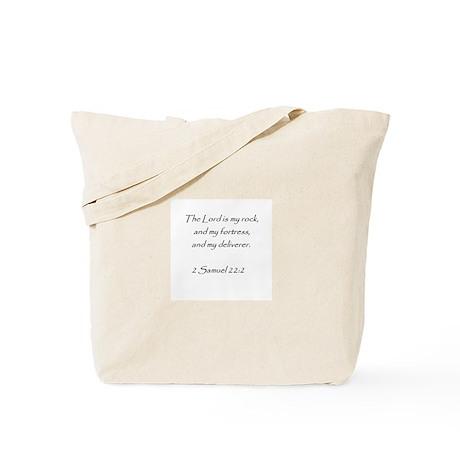 bible verse 2 sam. 22:2 Tote Bag