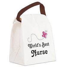 Nurse (World's Best) Canvas Lunch Bag
