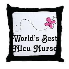 NICU Nurse (Worlds Best) Throw Pillow