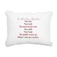 I Miss You My Love Poem Rectangular Canvas Pillow