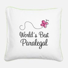Paralegal (World's Best) Square Canvas Pillow