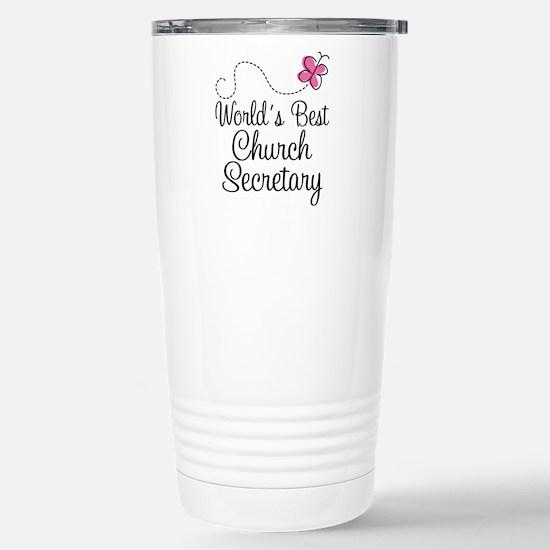 Church Secretary Gift Stainless Steel Travel Mug