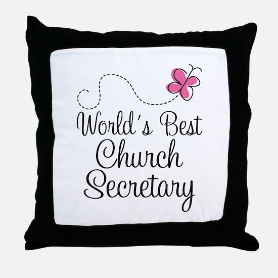 Church Secretary Gift Throw Pillow