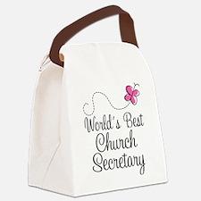 Church Secretary Gift Canvas Lunch Bag
