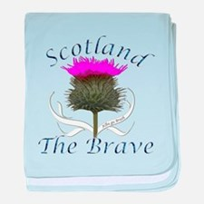 Scotland The Brave Thistle baby blanket