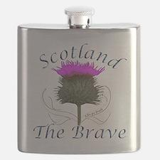 Scotland The Brave Thistle Flask