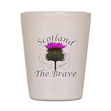Scotland The Brave Thistle Shot Glass