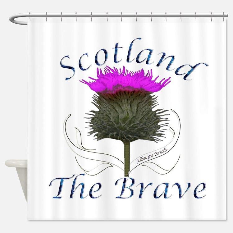 Scotland The Brave Thistle Shower Curtain £50
