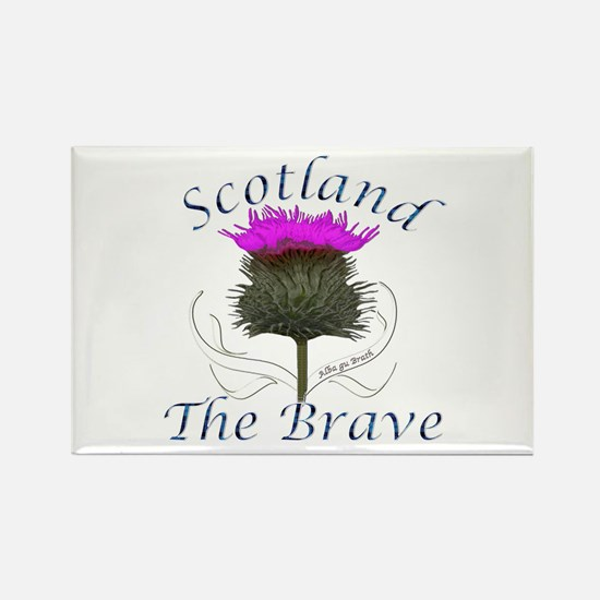 Scotland The Brave Thistle Rectangle Magnet