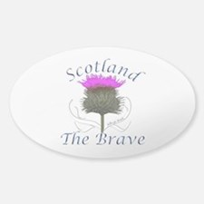 Scotland The Brave Thistle Decal