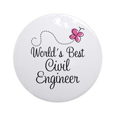 Civil Engineer Gift Ornament (Round)