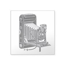 "vintage camera-3.png Square Sticker 3"" x 3&qu"