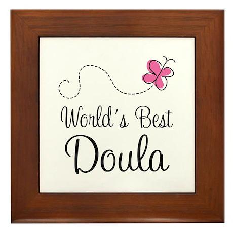 Doula (Worlds Best) Framed Tile