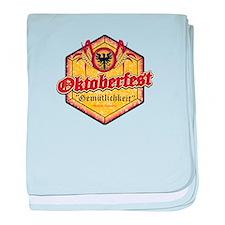Oktoberfest Pentagon - Beer and Fun baby blanket