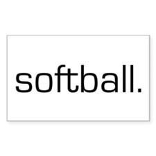 Softball Rectangle Decal