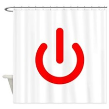 Standby Symbol Red Shower Curtain