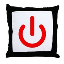 Standby Symbol Red Throw Pillow
