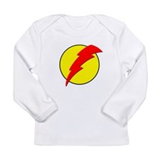 A Red Lightning Bolt Long Sleeve Infant T-Shirt