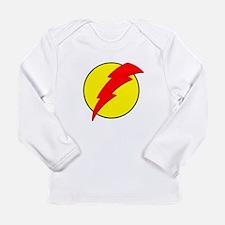 A Red Lightning Bolt Long Sleeve Infant T-Shirt