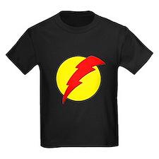 A Red Lightning Bolt T