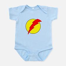 A Red Lightning Bolt Infant Bodysuit