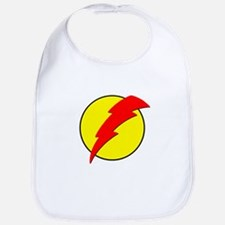 A Red Lightning Bolt Bib