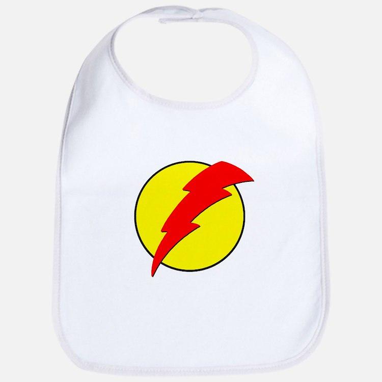 A Red Lightning Bolt Bib