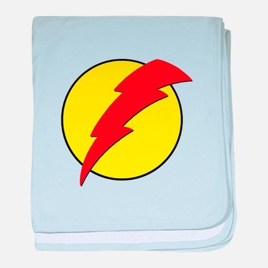 A Red Lightning Bolt baby blanket