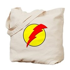 A Red Lightning Bolt Tote Bag