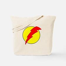 A Red Lightning Bolt Tote Bag