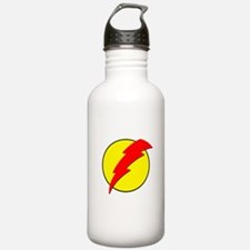 A Red Lightning Bolt Water Bottle