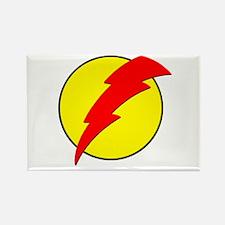A Red Lightning Bolt Rectangle Magnet