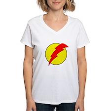A Red Lightning Bolt Shirt