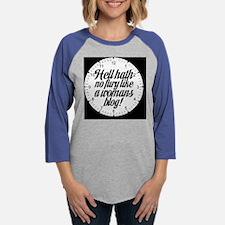 hellhathclock.png Womens Baseball Tee