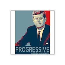 "JFK - PROGRESSIVE Square Sticker 3"" x 3"""