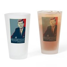 JFK - PROGRESSIVE Drinking Glass