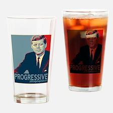 JFK - PROGRESSIVE Drinking Glass