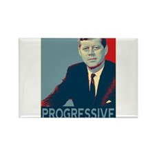 JFK - PROGRESSIVE Rectangle Magnet
