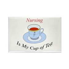 Nursing is my cup of tea Rectangle Magnet